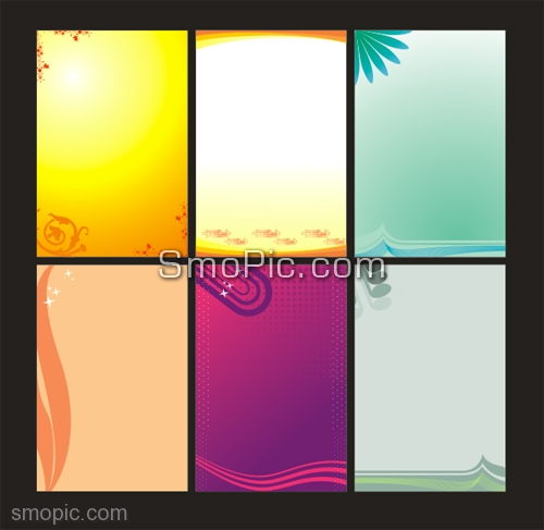 500x487 6 Free Vector Poster X Banner Background Design Template Coreldraw