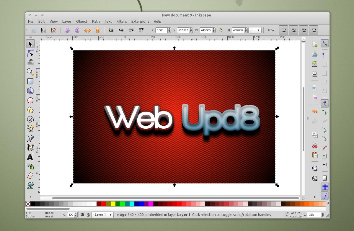 1199x783 Install Inkscape 0.48 (Vector Graphics Editor) In Ubuntu (Ppa
