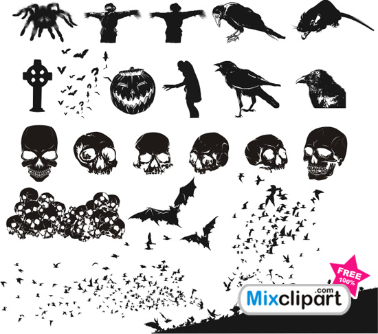 550x486 Vector Files Set For Halloween Vector File Mixclipart Free Clipart