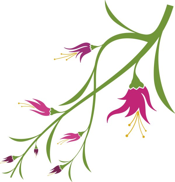 600x624 Vivid With Flower Elements Vector Graphics Free Download