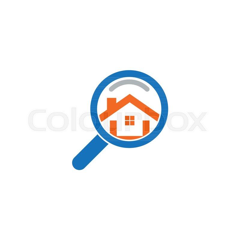 800x800 Real Estate House Finder Logo Template Vector Stock Vector