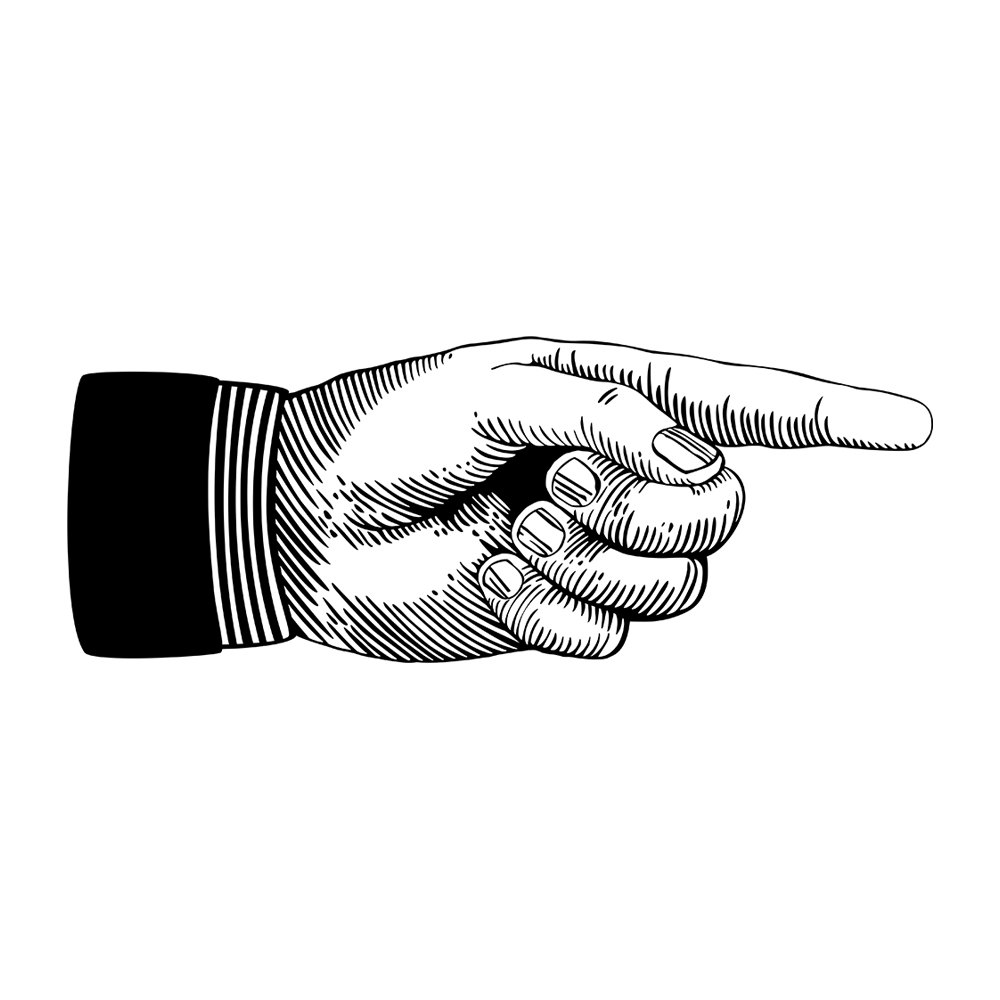 1000x1000 Victorian Clipart Pointed Finger