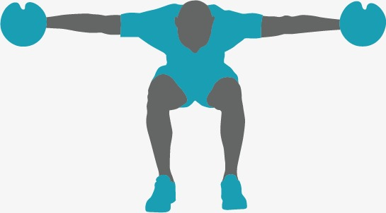 545x302 Fitness Silhouette Figures, Fitness Vector, Silhouette Vector