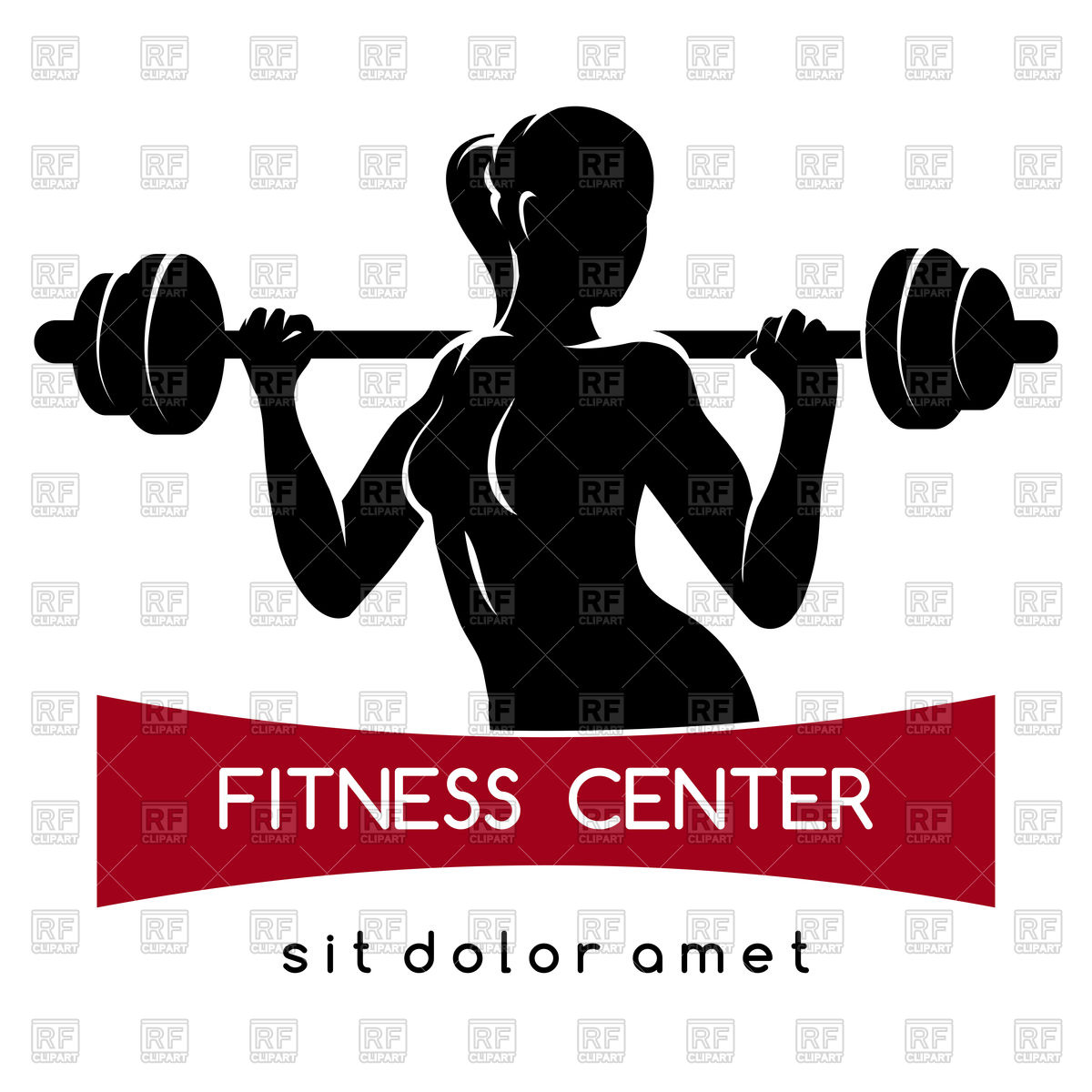 1200x1200 Fitness Center Or Gym Emblem