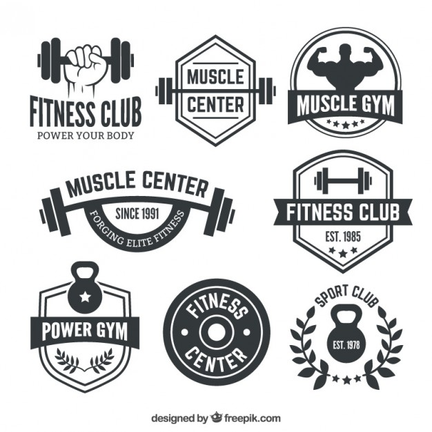 626x626 Fitness Club Badges Vector Premium Download