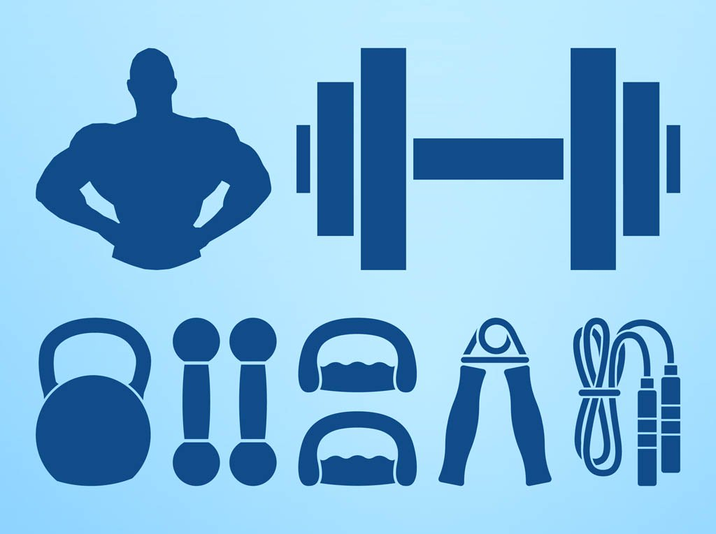 1024x765 Bodybuilding Graphics Set Vector Art Amp Graphics