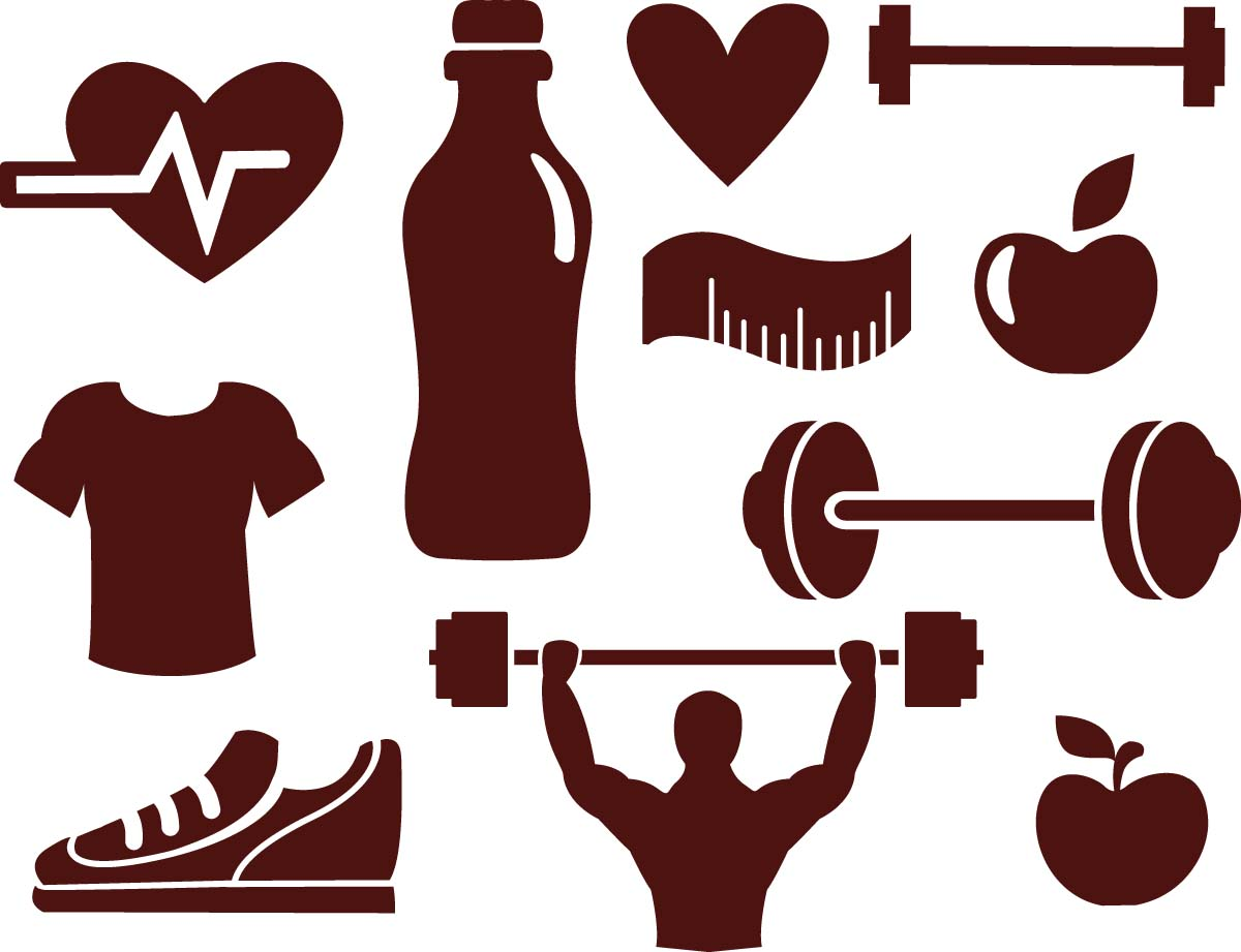 1200x921 Fitness Sport Elements Vector Free Download