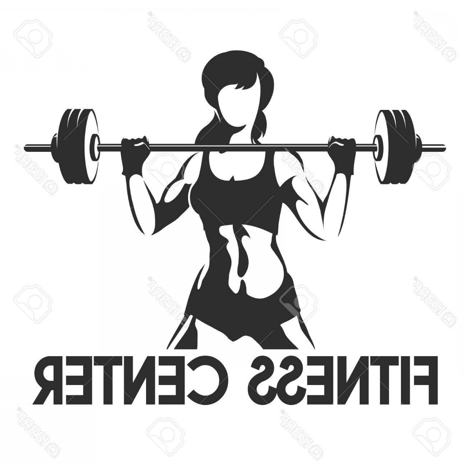 1560x1560 Photostock Vector Fitness Center Or Gym Emblem Sporty Woman