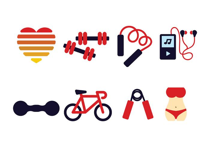 700x490 Fitness Icon Pack Vector