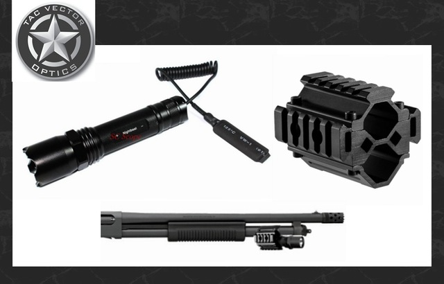 640x410 Vector Optics Tactical Barrel Flashlight And Tri Rail Mount Weapon