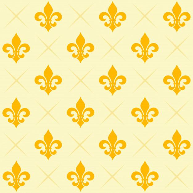 626x628 Fleur De Lis Pattern Vector Premium Download