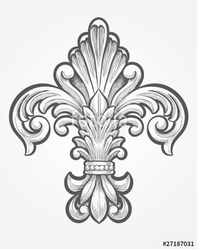 396x500 Elegant Fleur De Lis Stock Image And Royalty Free Vector Files On