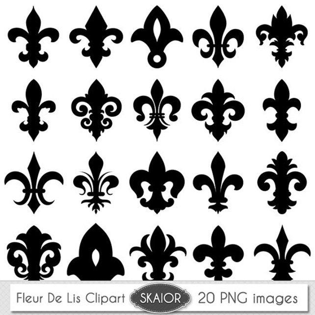 642x642 Fleur De Lis Clipart Vector Fleur De Lis Digital Scrapbooking Etsy