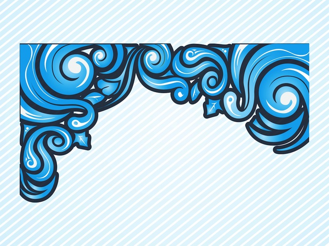 647x483 Decorative Flow Vector Composition Frame Vector Free Download