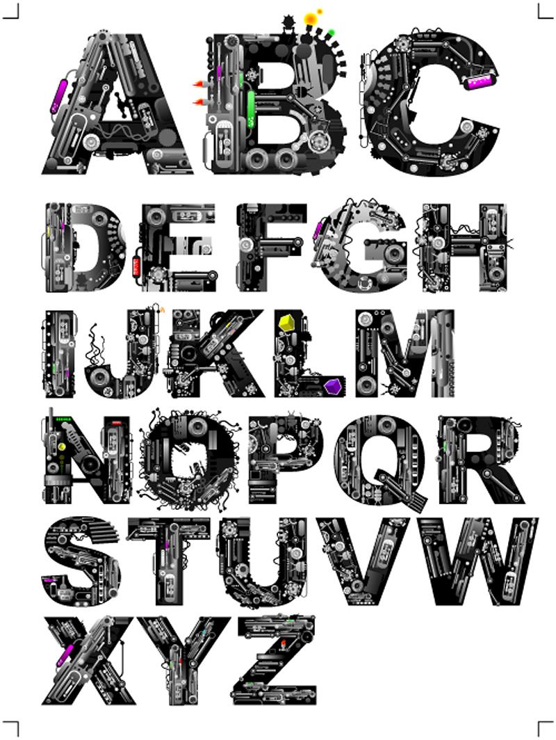 800x1064 Font Design Series 37 Vector Free Vector 4vector