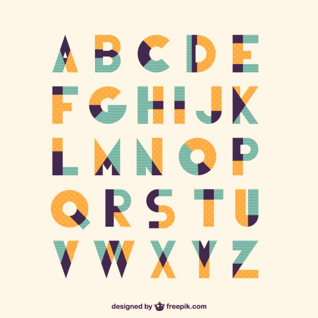626x626 Retro Vintage Type Font Vector Free Download