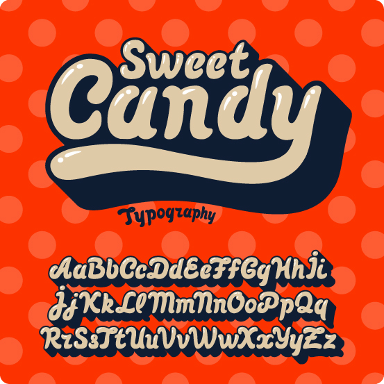 553x553 Sweet Candy Font Vector Free Download