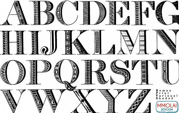 626x396 Vector Font Roman Print Vector Free Download