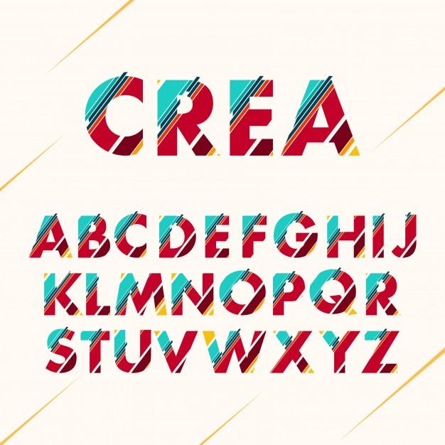 626x626 Coloured Alphabet Design Vector Free Download