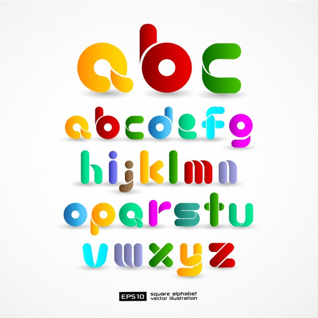 626x626 Colourful Alphabet Vector Free Download