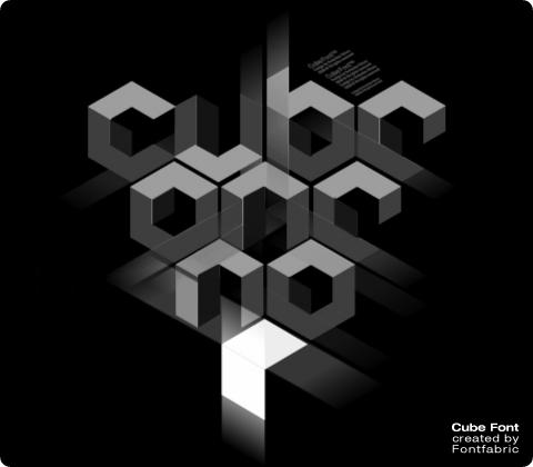 480x420 Cube Vector Font