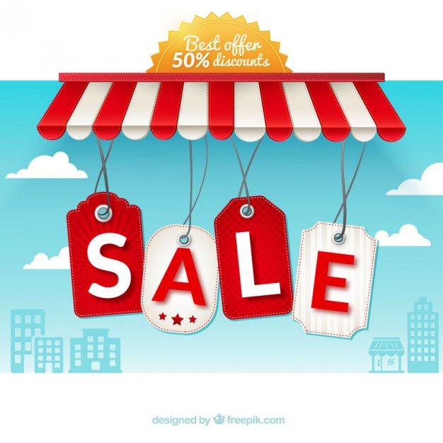 626x626 Sale Hanging Labels Vector Free Download