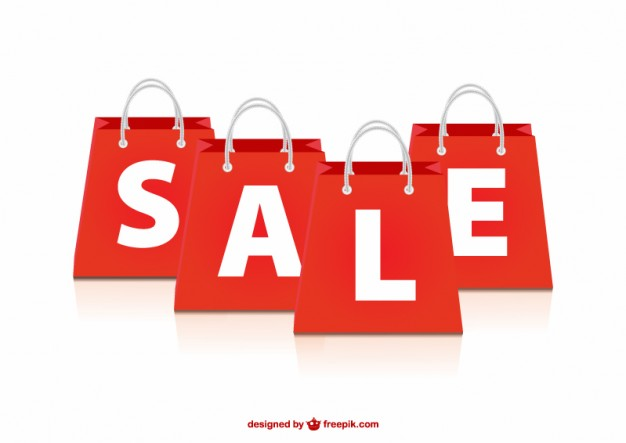 626x443 Sale Red Bags Vector Free Download