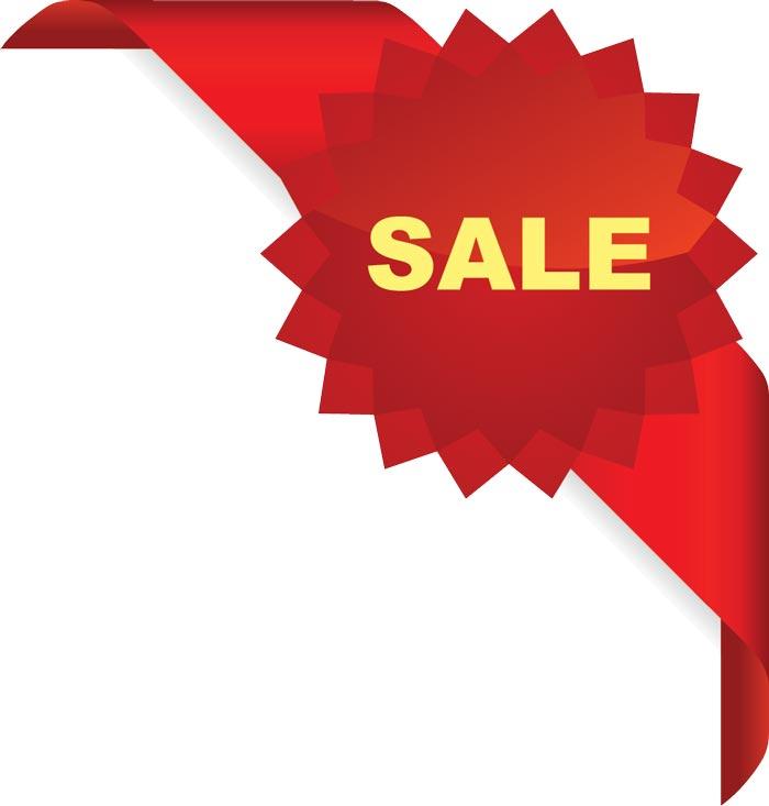 700x733 Sales Corner Ribbons Vector