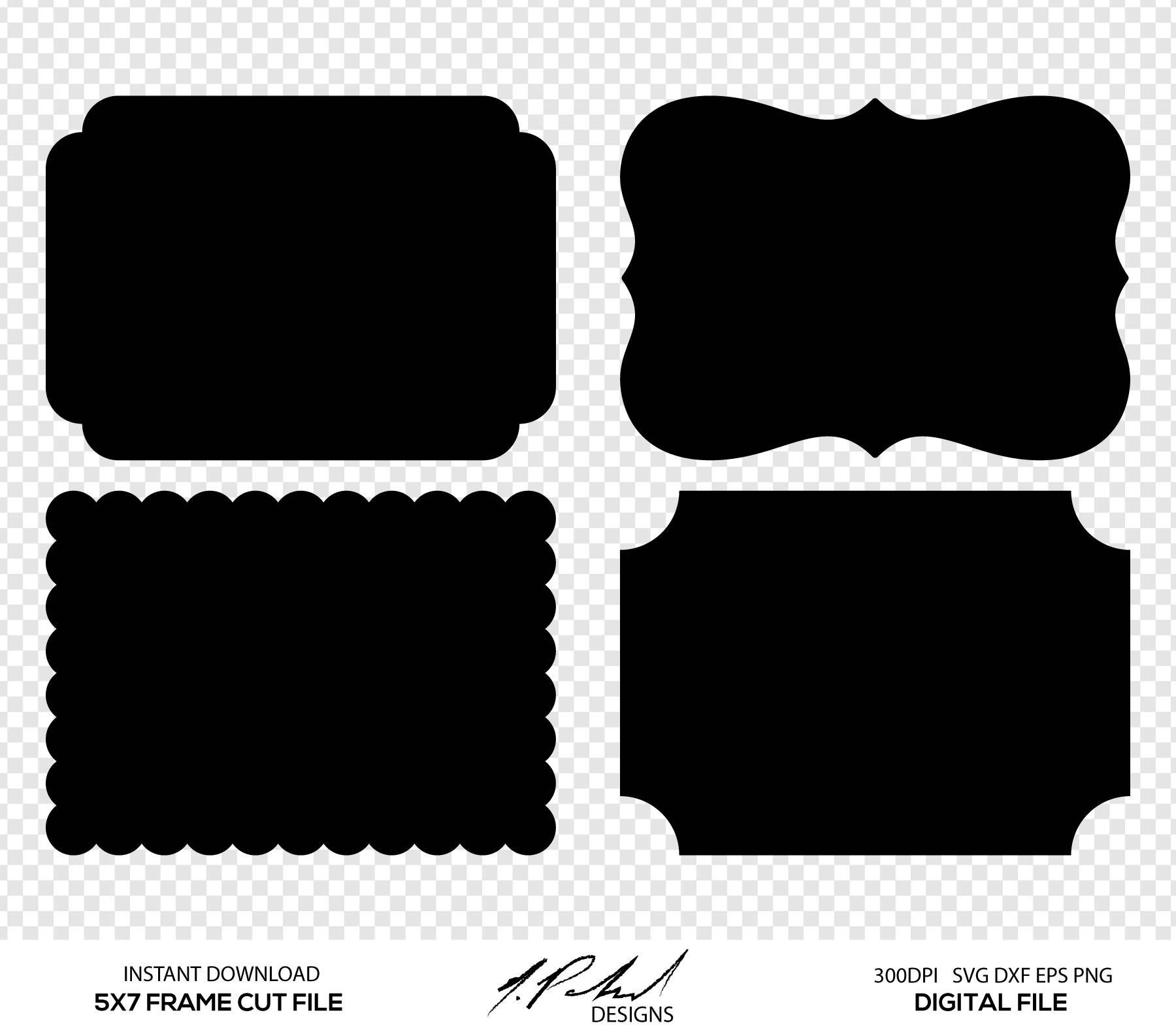 1800x1585 Frame Digital Cut Files Digital Files Frame Svg Frame Etsy