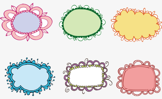 650x400 Garland Vector Frame Set, Petal, Flower Boxes, Dialog Png And