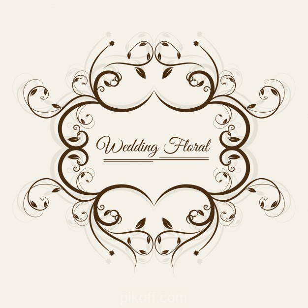 626x626 Ai] Wedding Floral Frame Vector Free Download