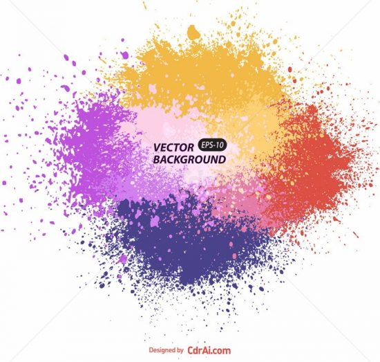 550x523 Colorful Spray Vector Free Download Cdr Ai Eps