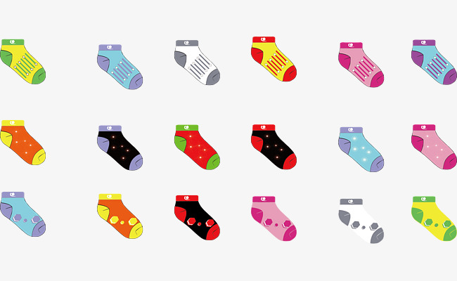 650x400 Socks Vector, Vector Template Socks, Ai, Fashion Design Png And