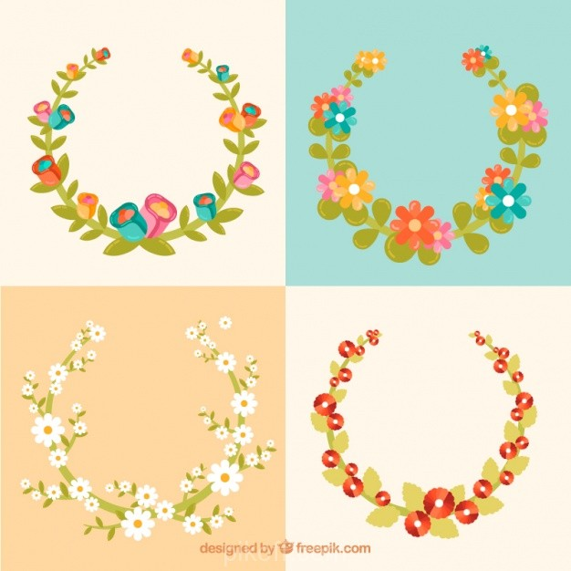 626x626 Ai] Set Of Decorative Floral Frames Vector Free Download