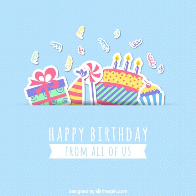 626x626 Birthday Card Free Download Vintage Happy Birthday Card Design