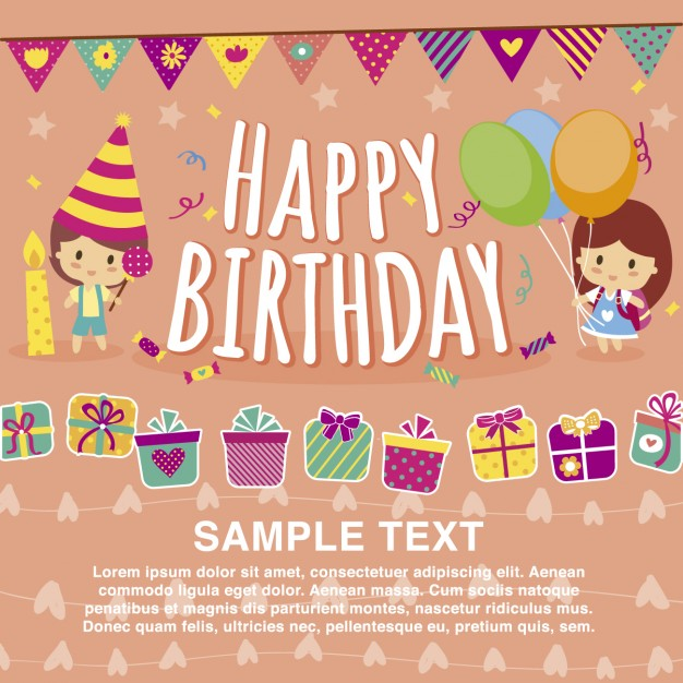626x626 Free Birthday Card Templates Happy Birthday Card Design Template