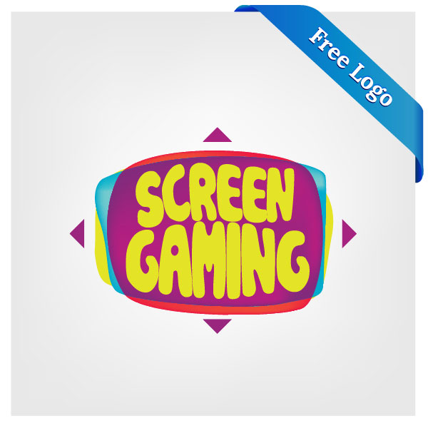 600x600 Free Vector Large Screen Display Video Game Logo Download In (.ai