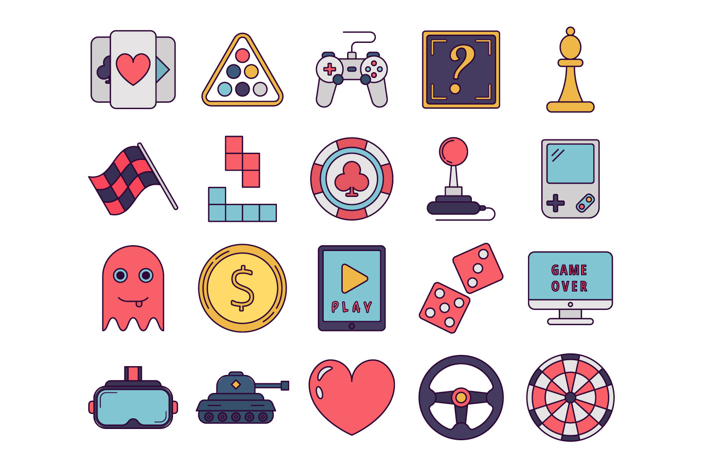 1440x960 Game Vector Free Icon Set