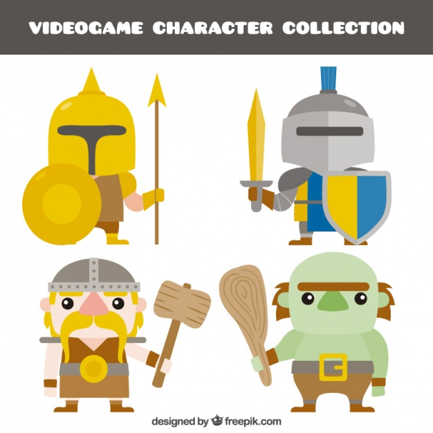 626x626 Pack Of Video Game Characters Vector Free Download