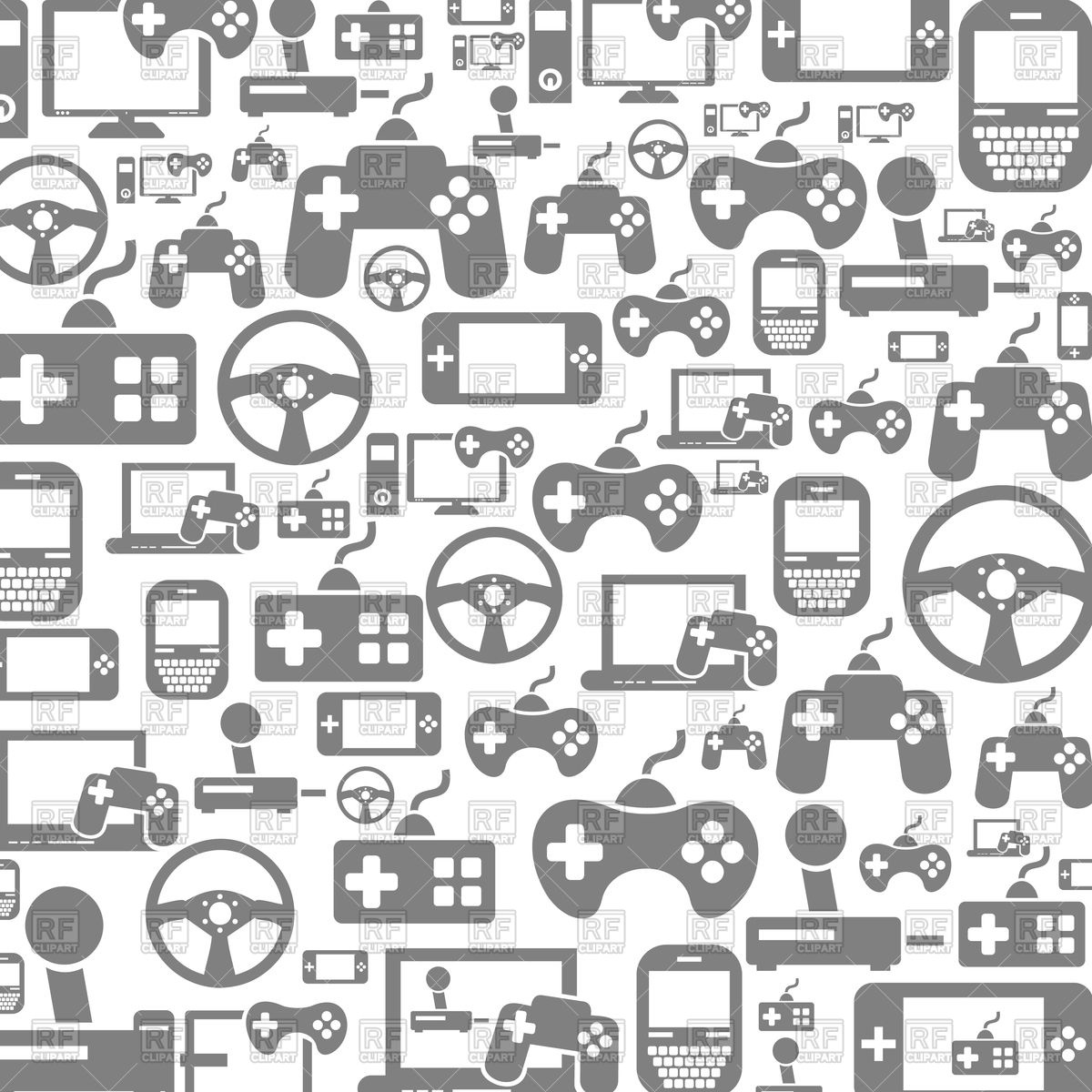 1200x1200 Background Made Of Video Game Icons Vector Image Vector Artwork