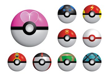 352x247 Pokemon Poke Ball Set Free Vector Download 380245 Cannypic