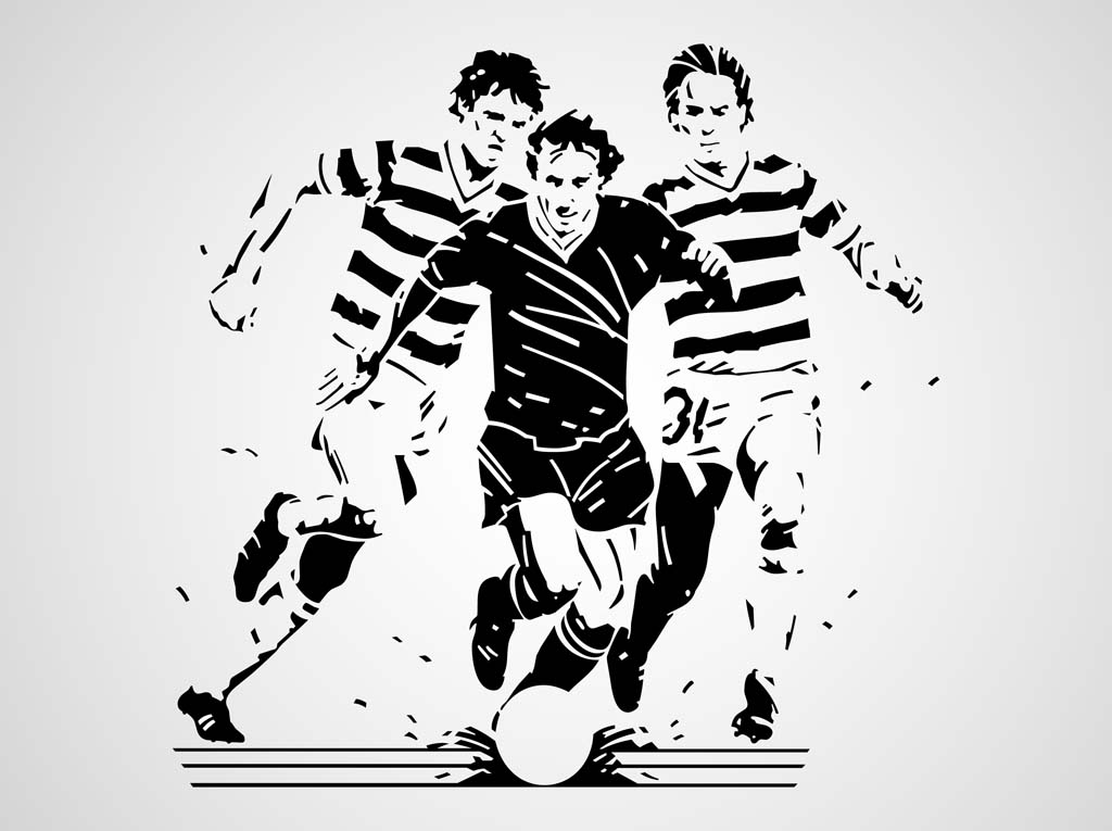 1024x765 Soccer Game Vector Vector Art Amp Graphics
