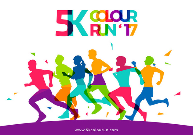 632x443 5k Color Run Template Free Vector Free Vector Download 438275