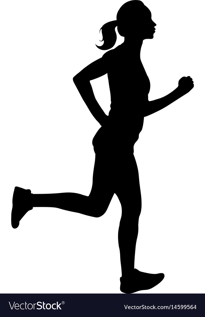 700x1080 Runner Silhouette Vector Free Download Woman Running Silhouette