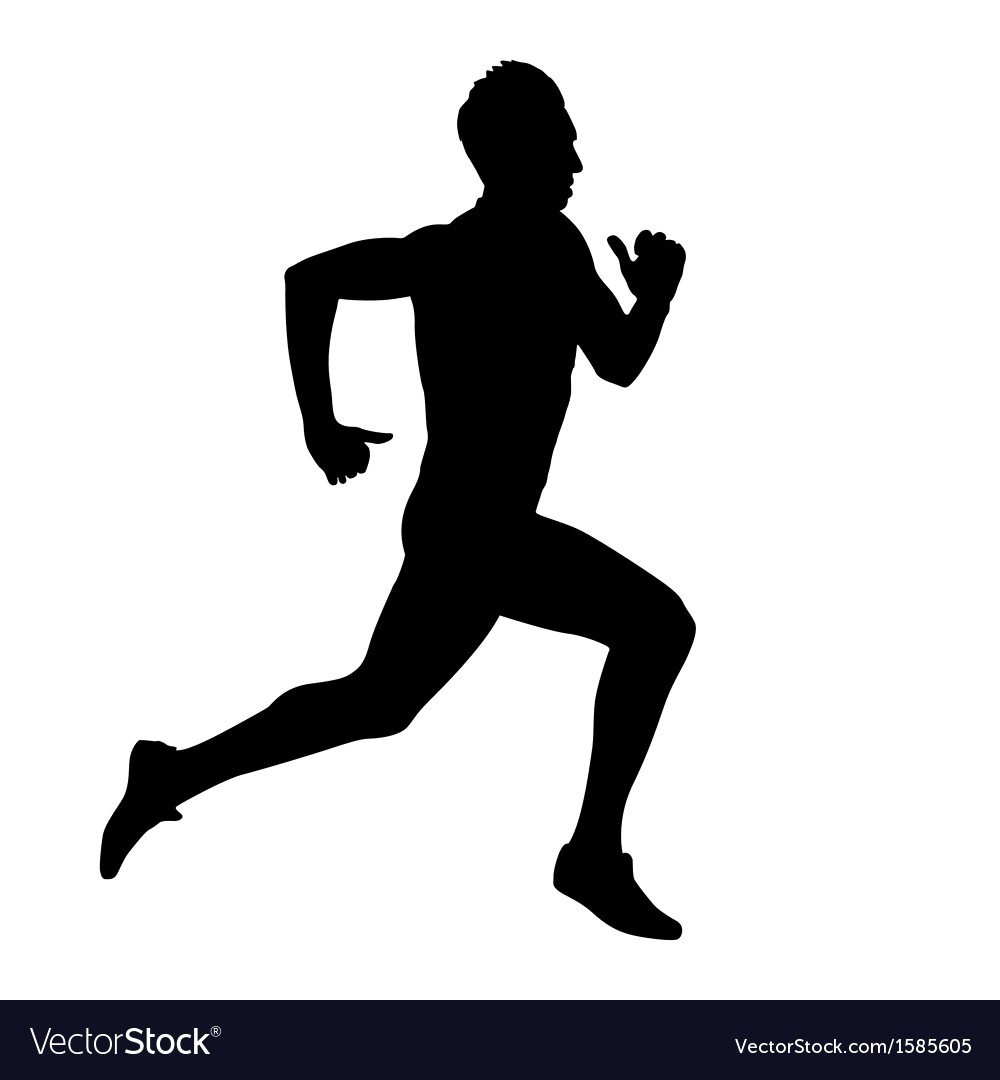 1000x1080 Running Silhouettes Royalty Free Vector Image Vectorstock Fancy