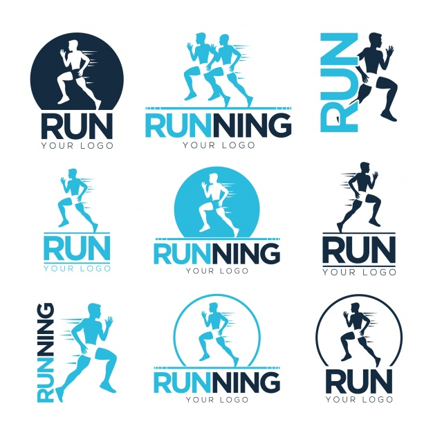 626x626 Running Logo Templates Vector Free Download