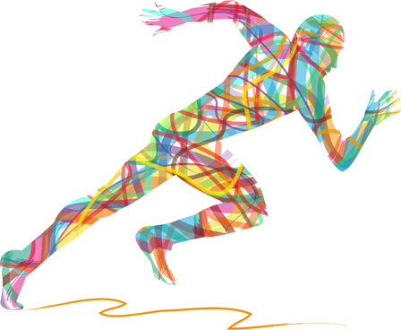 448x368 Running Man Vector Free Vector Download (3,398 Free Vector) For