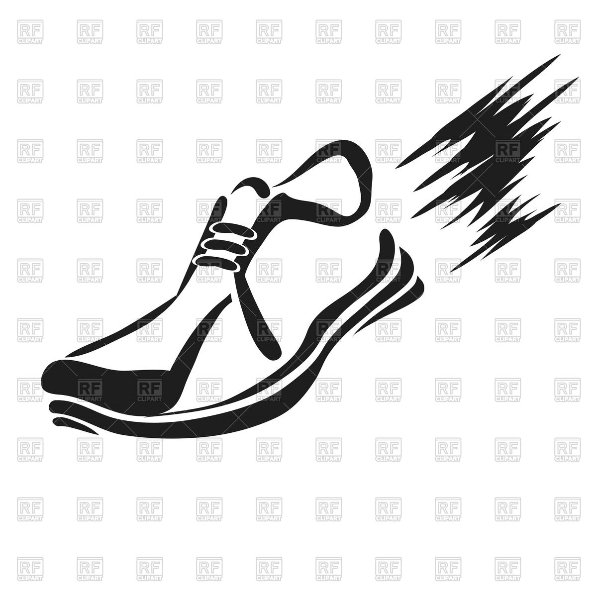 1200x1200 Silhouette Of Running Shoe Vector Image Vector Artwork Of