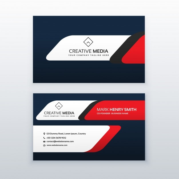 626x626 Business Card Freepik Beautiful Red And Dark Blue Business Card