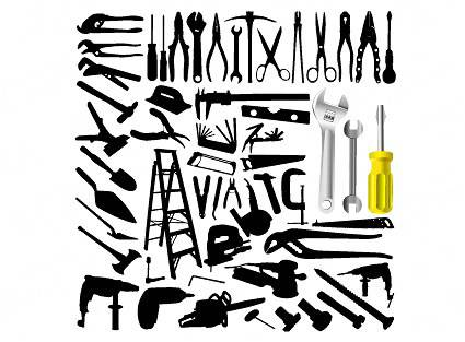 425x313 Vector Tool Silhouette Technology Vector Free Vector Download